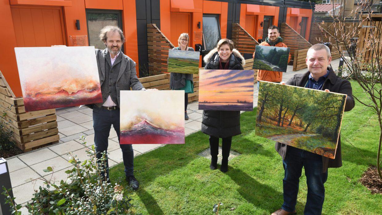 Art handover event Dundee Close